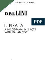 Bellini - Il Pirata - Vocal Score