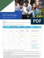Edvantage Benefits&Criteria Details