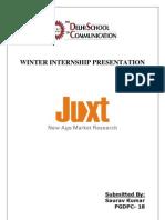 A Summer Internship Report on online research