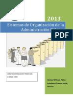Sistemas de Organización de la Administración Pública