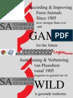 Wildlife services SA Stud Book