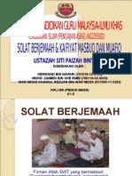 Solat Berjemaah Dan Kaifiyat Masbuq Dan Muafiq
