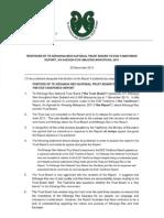 Board response to ECE Taskforce Report
