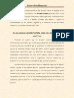 EL DESARROLLO LINGÜÍSTICO DEL NIÑO CON DEFICIENCIAS AUDITIVAS