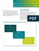 Australian Charter for the Professional Learning of Teachers and School Leaders Fact Sheet