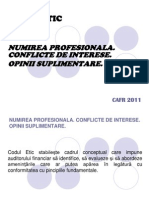 Codul Etic-Numirea Profesionala, Conflicte de Interese, Opinii Suplimentare-A.popescu