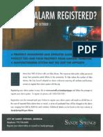 Sandy Springs Alarm Registration