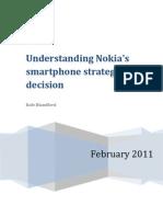 Understanding Nokia Smartphone Strategy
