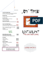 Joy Thai Dine in Menu- 2008