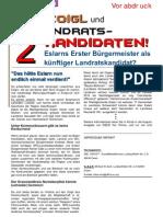"""DEEZ 08.2013 - Vorabdruck """"Politik regional"""" - Reiner Gäbl - Vielleicht der SPD-Landratskandidat im Landkreis NEW?"""