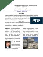 CONSTRUCCIÓN  DE LAS FUNCIONES TRIGONOMÉTRICAS CON GEOGEBRA