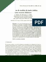 Simulaciones de modelos de teoría cinética