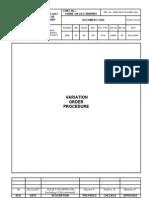 G- Variation Order Procedure