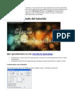 Tutorial de photoshop - Texto de vidrio