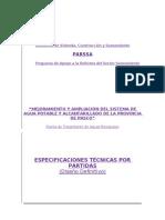 Especificaciones Tecnicas Por Partidas 1A Aguas Servidas Pasco