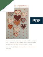 Corazones Crocheted Valentines