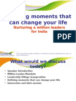 Defining Moments that Can Change Your Life