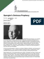 Spengler's Ominous Prophecy