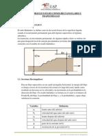RESALTO HIDRÁULICO EN SECCIONES RECTANGULARES Y TRAPEZOIDALES