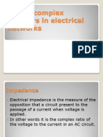 Use of Complex Numbers in Electrical Networks