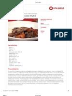 Carne Asada Con Pure