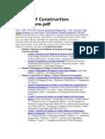 Design of Construction StructureTableContent