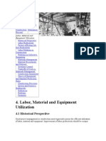 Labor, Material and Equipment Utilization-4