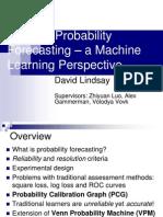 Cake Talk Probability Forecasting