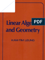 Kam-Tim Leung Linear Algebra and Geometry  1974