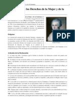 Declaración de los Derechos de la Mujer y de la Ciudadana