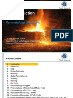 156631402 01 Pyrometallurgy Introduction