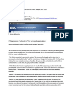 FDA Proposed New 10 Ppb Action Level for Arsenic in Apple Juice 71213