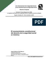 Reconocimiento Constitucional Del Derecho de La Seguridad Social