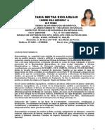 Curriculum Tania Rios Araujo