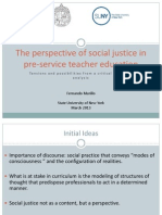 The perspective of Social Justice in Teacher Education