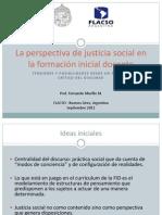 La perspectiva de justicia social en la formación inicial docente