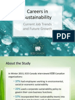 Careers in Sustainability ECO Canada 2013