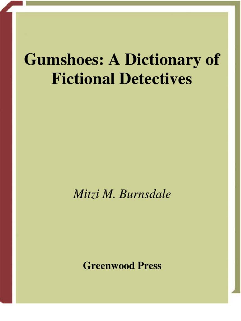 2b91d59475af Diccionario de Detectives Ficticios