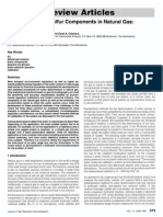 Determination of Sulfur Components in Natural Gas