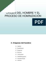 ORIGEN DE L'HOME I HOMINITZACIÓ
