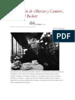 TESIS - Beckett - Mercier y Camier ARTICULO