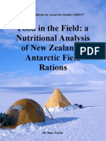 Food in the Field-A Nutritional Analysis of New Zealands Antarctic Field Ration