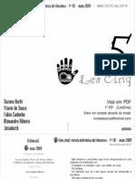 Revista Eletrônica de Literatura - Les Cinq 1º Edição- Maio 2009