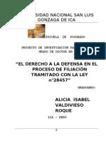 Proyecto de Tesis de Filiacion Dra. Miluska