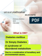 Pharmacotherapy of  diabetes mellitus