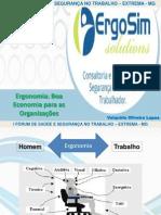 Ergonomia Boa Economia para as organizações - Verdadeiro