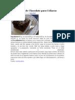 Bizcochuelo de Chocolate Para Celiacos