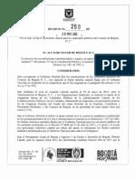 Decreto 258 de 2012