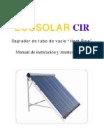 Manual de Colector Solar