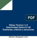 Exámenes Selectividad Dibujo Técnico Galicia 2001-2008
